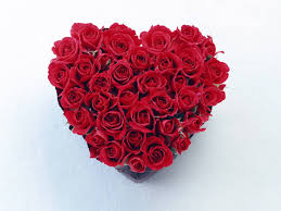 Wallpapers Backgrounds - red roses heart bouquet