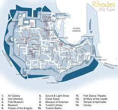 rhodes old town map