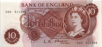 10 shillings note