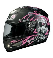 hot pink motorcycle helmet