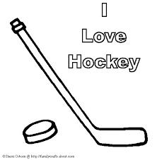 hockey coloring book