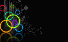 neon colored background