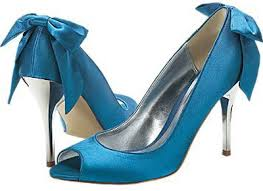 bright blue shoes