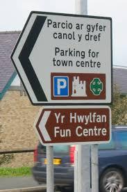 bilingual road signs