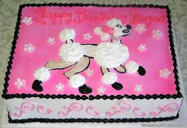 pink poodle cakes