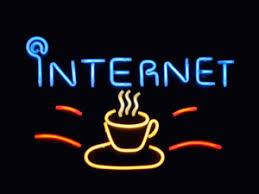 internet cafe signs