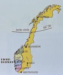 mapa norwegii