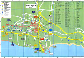 ayia napa hotel map