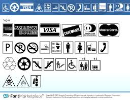 font signs
