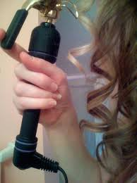 curling iron curls