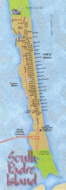 padre island maps