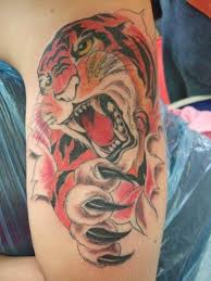 3d Tattoo Tiger