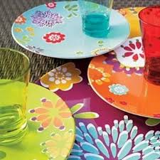 plates flowers