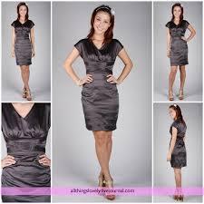 grey satin dress