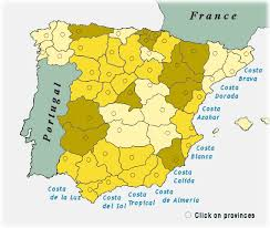 map of spanish provinces