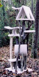 rustic cat trees