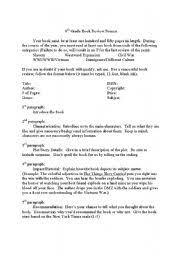 book reviews format