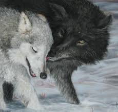 paintings of wolves