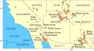 map of the southwestern united states