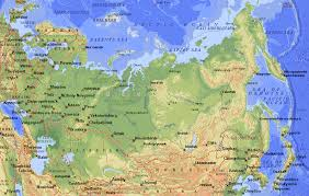 geographical map of russia