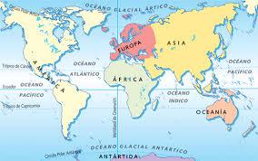 mapa de oceanos