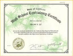 high school diploma certificate