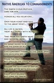 native american ten commandments