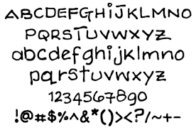 different types of writing fonts
