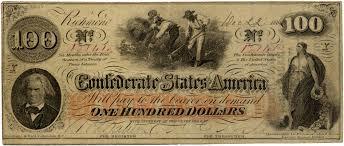 confederate 100 dollar bill