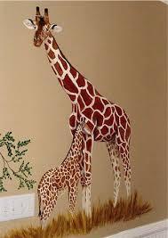 giraffe murals