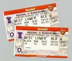 arsenal football ticket