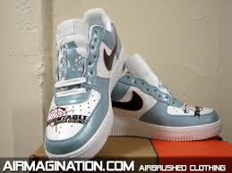 airbrush air force ones
