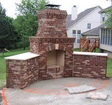 outdoor masonry fireplace