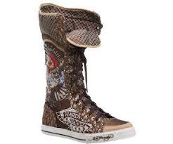 ed hardy shin boots