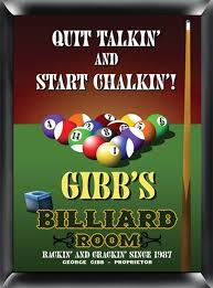billiard sign