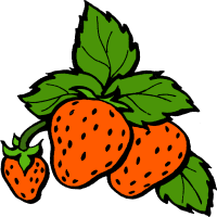 clipart strawberries