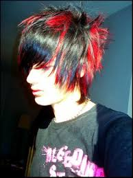 red black hair color