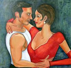 paintings of tango dancers