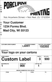 carton labels