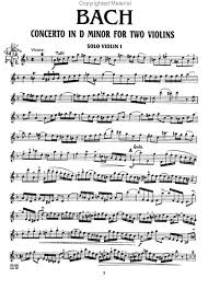 bach violin sheet music