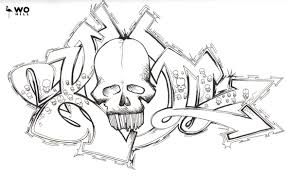 crazy skull drawings