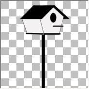 bird house on pole