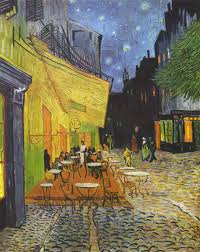 cafe terrace at night vincent van gogh