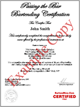 bartender certificate
