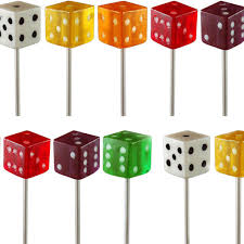 dice lollipop