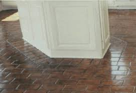 brick floor kitchen