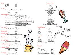 menu ice cream