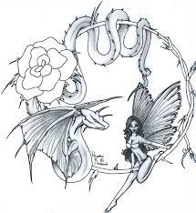 fairy dragon tattoo