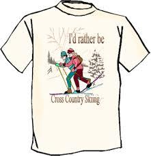 skiing tshirts