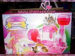 pink princess hamster cage